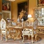 Bộ bàn ăn cổ điển hoàng gia