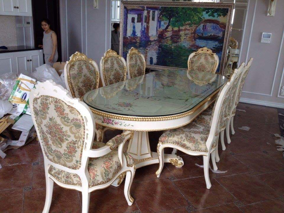 Bộ bàn ghế cổ điển Châu Âu HG02