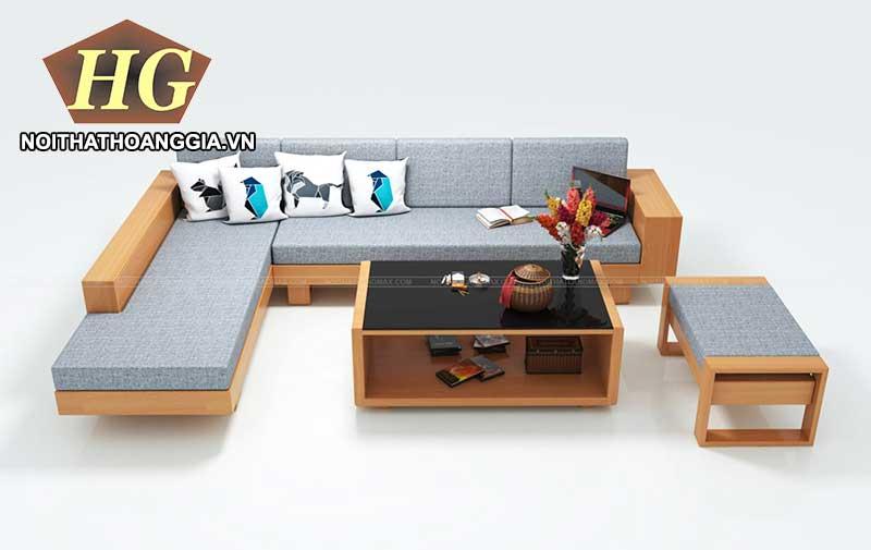 Mẫu bàn ghế phòng khách làm bằng gỗ MDF 1